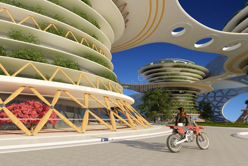 Architecturale complex stock illustratie