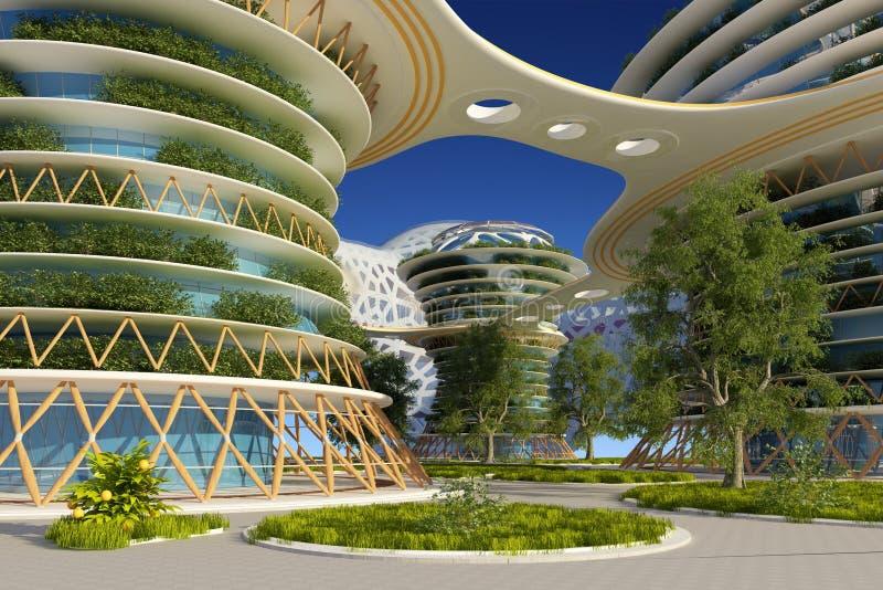 Architecturale complex royalty-vrije illustratie