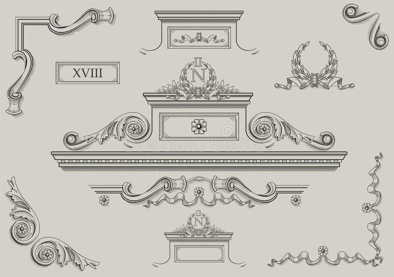 Architecturale details vector illustratie