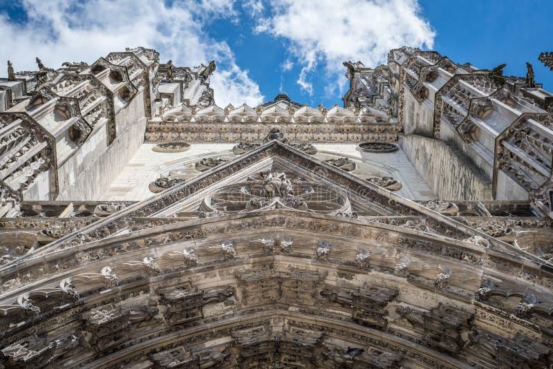 Architecturale details van de kathedraal van Reizen royalty-vrije stock foto's
