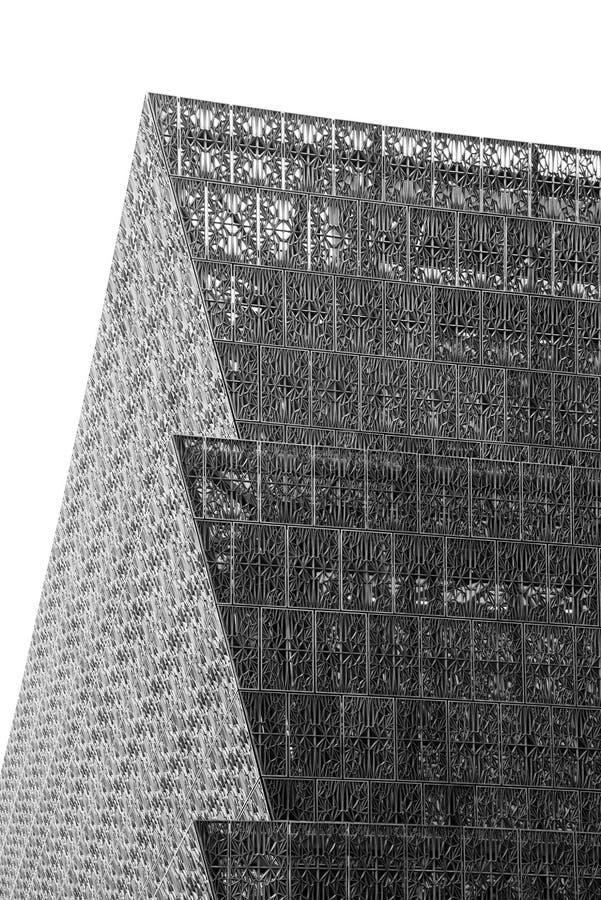 Architecturale details van het Nationale Museum van Afrikaanse Amerikaanse Geschiedenis en Cultuur, in Washington, gelijkstroom royalty-vrije stock foto
