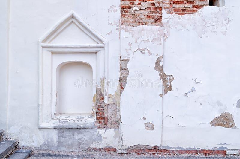 Architecturale elementen van de oude kerk in Veliky Novgorod, Rusland royalty-vrije stock afbeelding