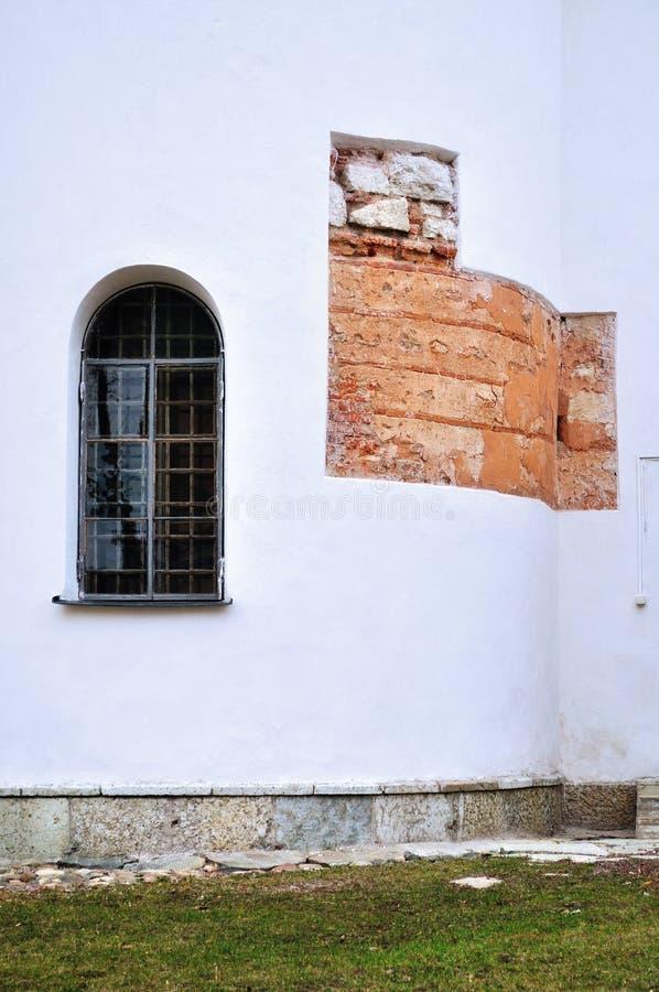 Architecturale elementen van St Sophia Cathedral in Veliky Novgorod royalty-vrije stock foto