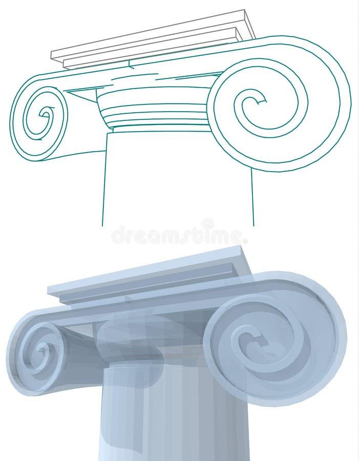 Architecturale kolommen met kapitalen royalty-vrije illustratie