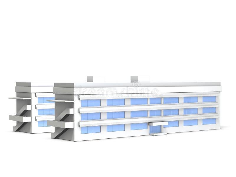 Architecturale modellen van ondergeschikte middelbare school vector illustratie