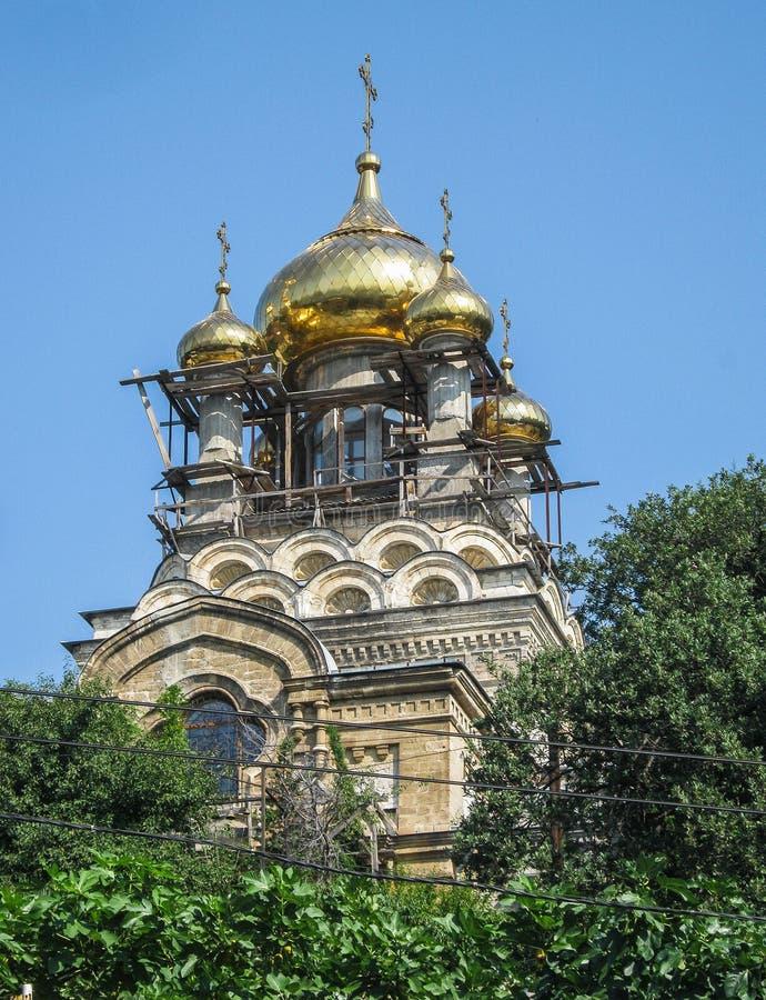 Architecturale oriëntatiepunten van het Schiereiland van de Krim stock foto