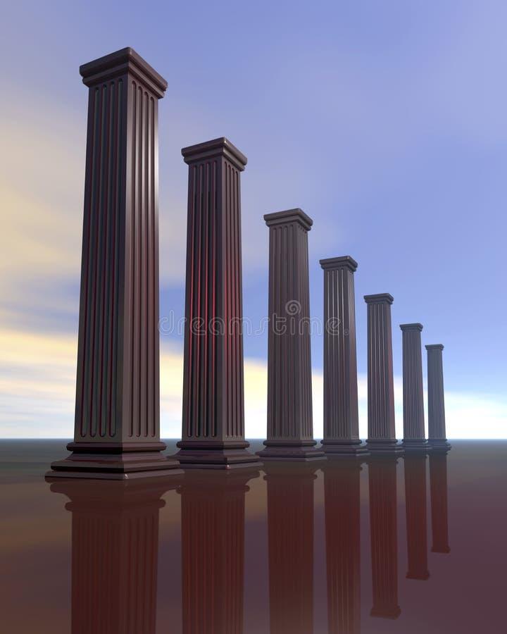 Architecturale pijlers royalty-vrije illustratie