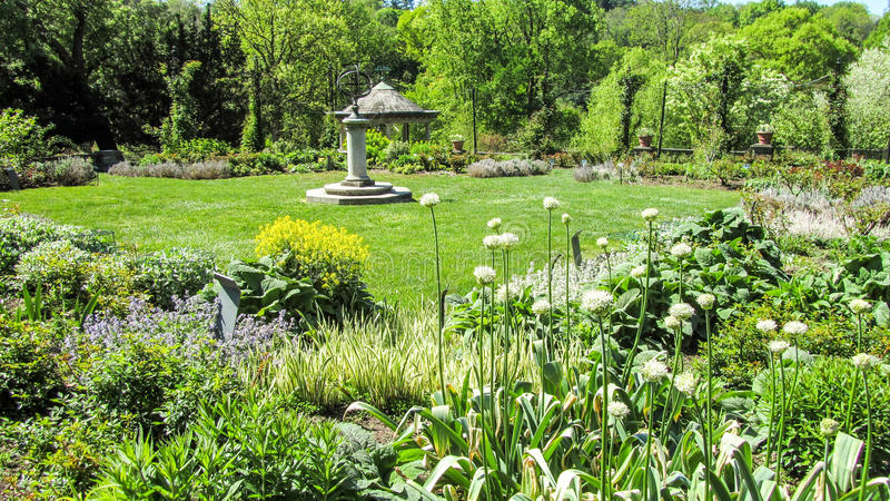 Architecturale tuin stock afbeeldingen