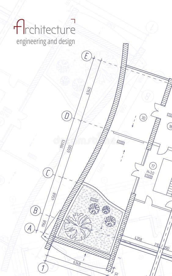 Architecturale vectorachtergrond stock illustratie