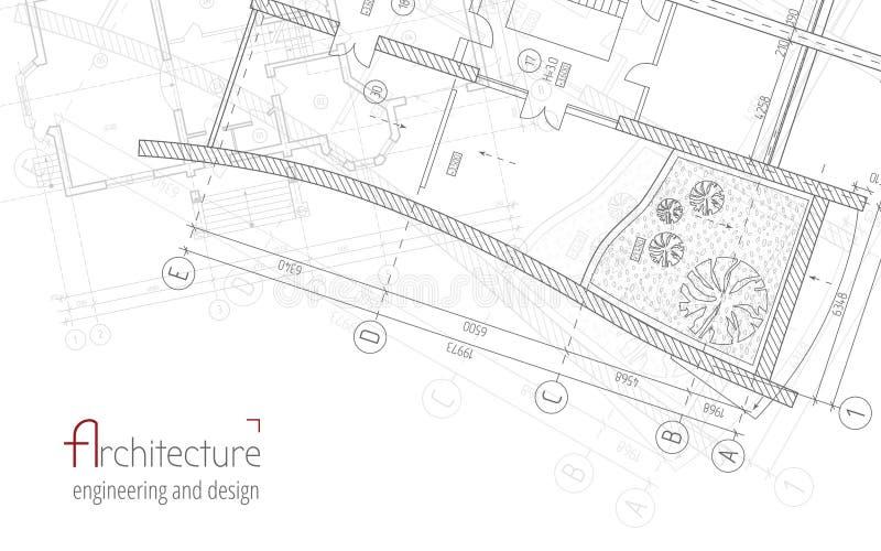 Architecturale vectorachtergrond royalty-vrije illustratie