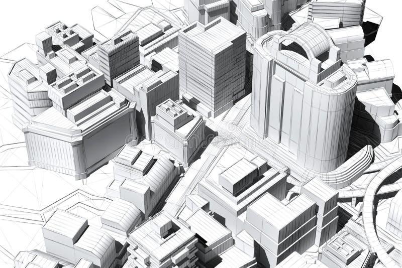 Architecturale visualisatie stock illustratie