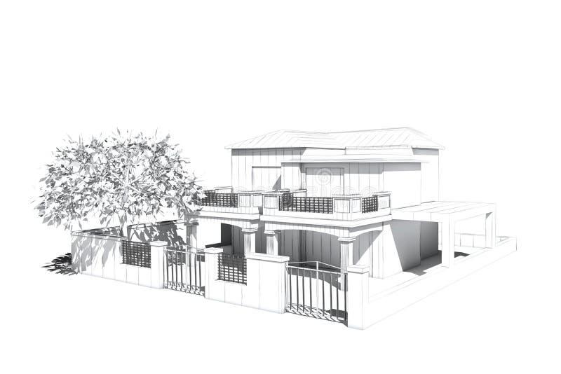 Architecturale visualisatie royalty-vrije illustratie