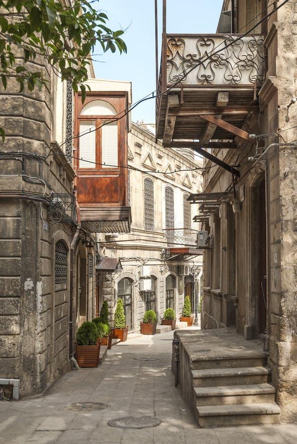 Architecture à Bakou Azerbaïdjan image libre de droits