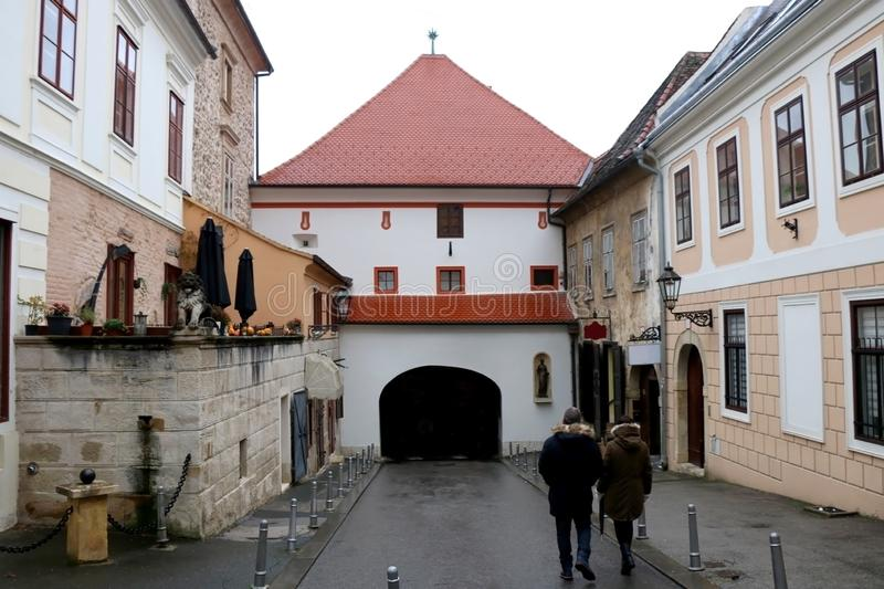 Architecture à Zagreb, Croatie photos libres de droits