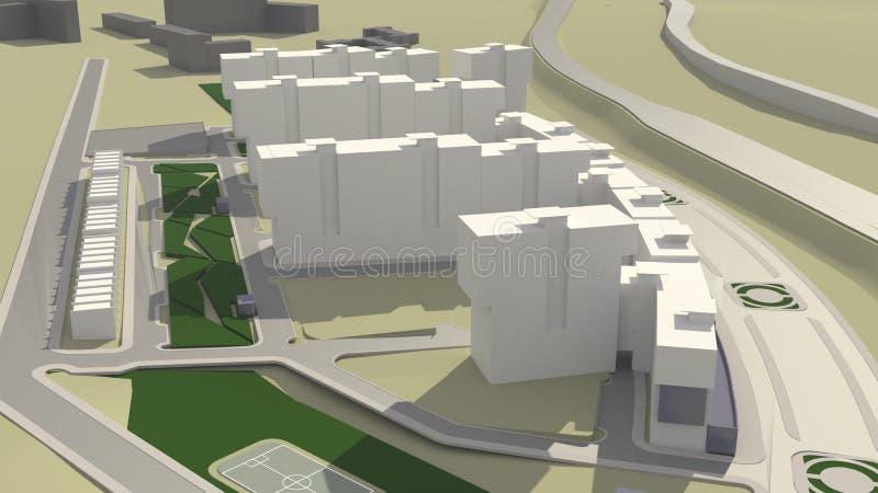 Architecture (3d rendering) vector illustration