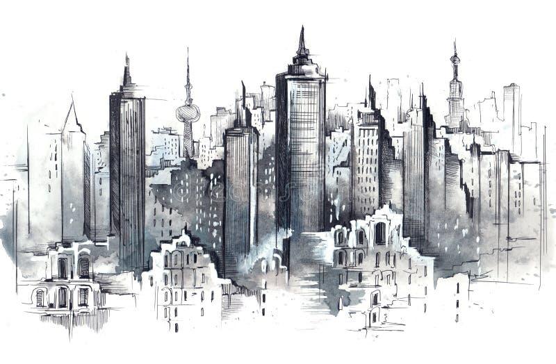 Architecture illustration libre de droits