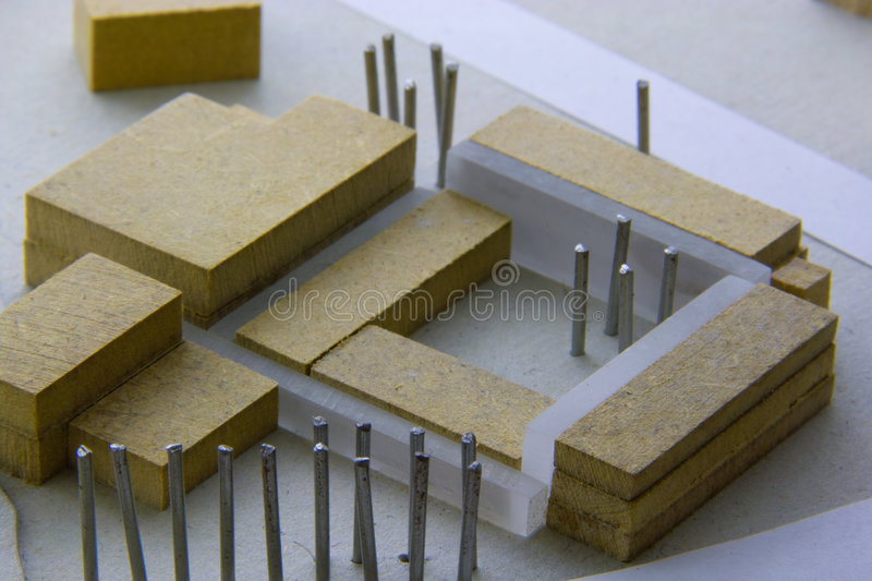 Architecture. Architectural Model of a Hotel Building stock photography