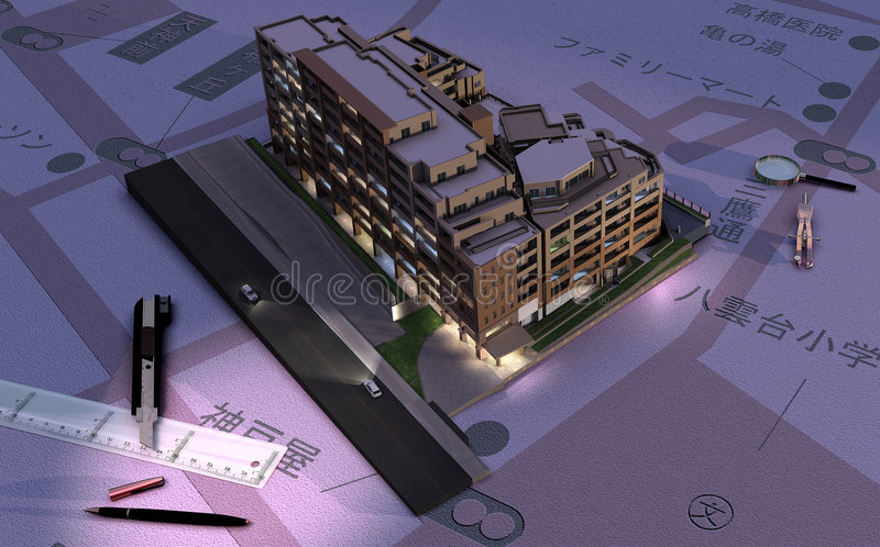Download Architecture stock illustration. Illustration of over - 8685936