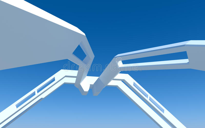 Download Architecture abstract stock illustration. Image of center - 13697107