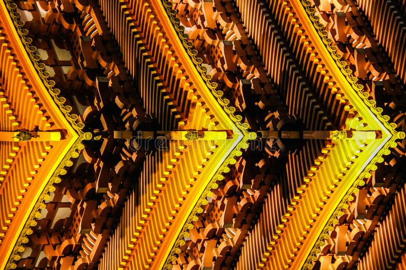 Architecture abstract with traditional japanese pagoda details stock photography