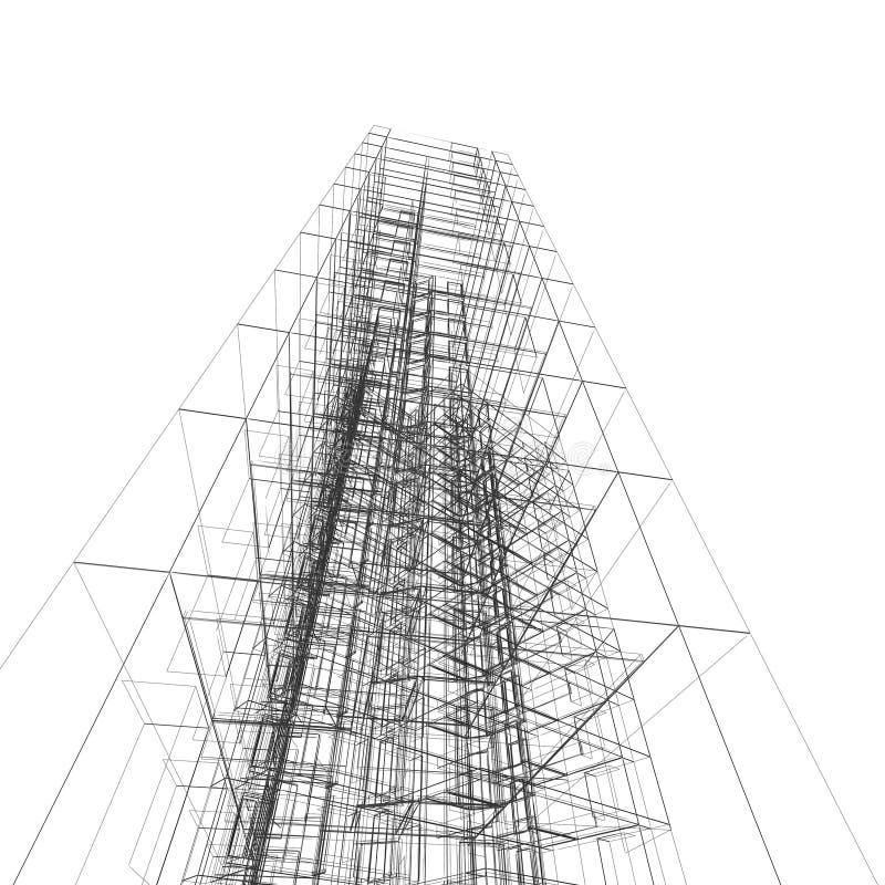 Architecture abstraite illustration de vecteur
