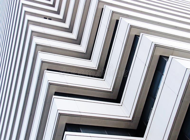 Architecture abstraite d'un bâtiment moderne photo stock