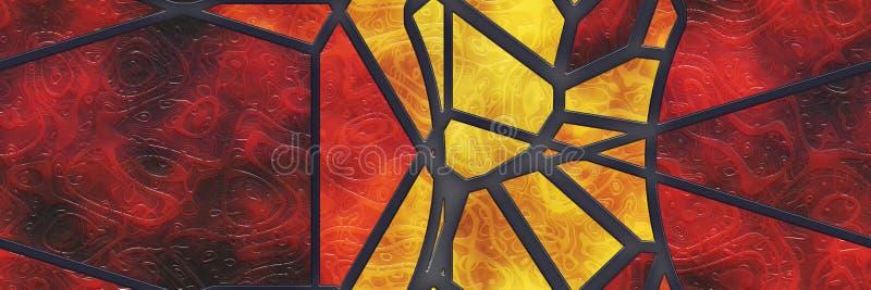 Architecture abstraite en verre souill?e de mosa?que illustration stock
