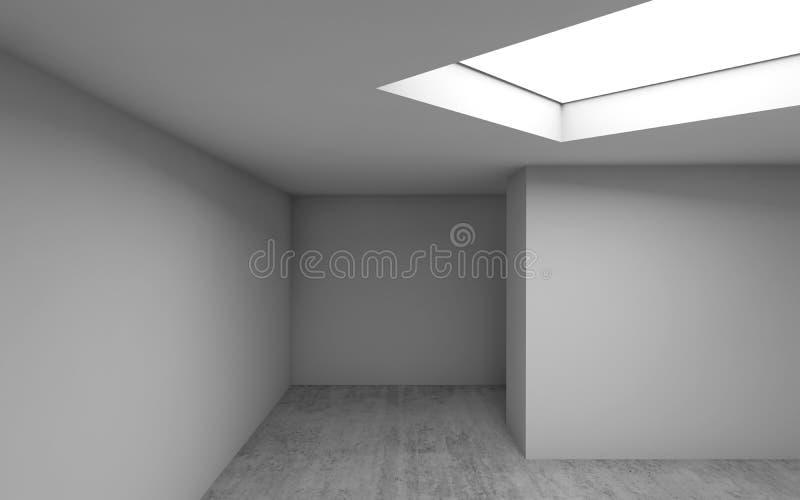 Architecture abstraite, intérieur vide 3 d de pièce illustration stock