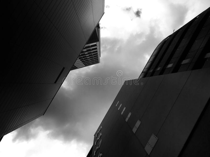 Architecture from an acute angle royalty free stock image