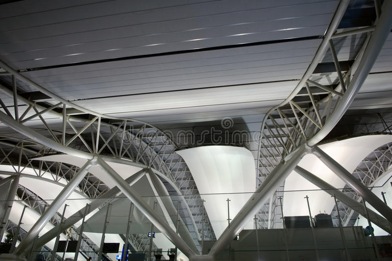 Download Architecture at airport stock image. Image of pattern - 12183615