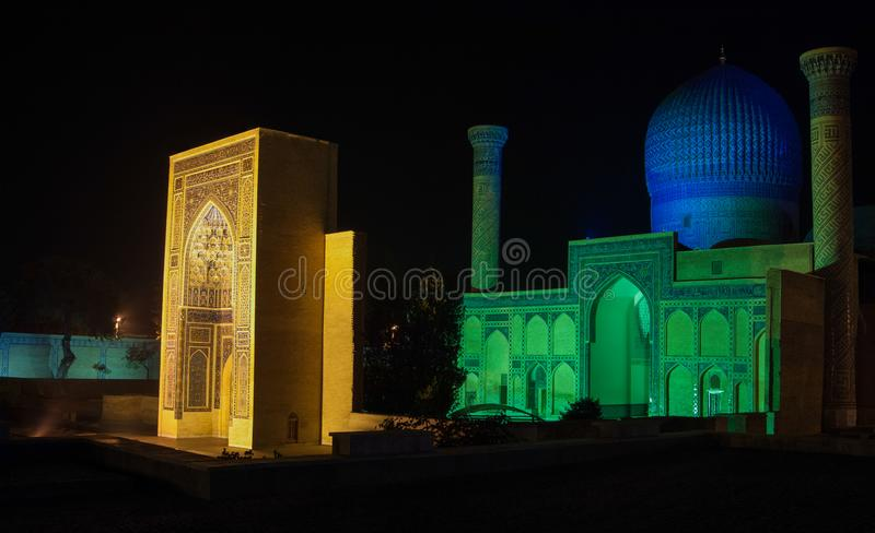 The architecture of ancient Samarkand stock photography