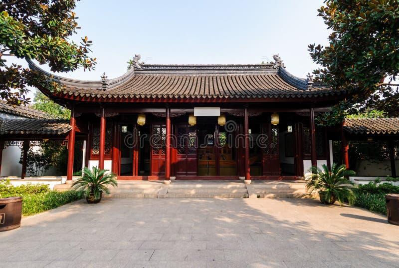 Architecture antique d'érable de Suzhou photographie stock