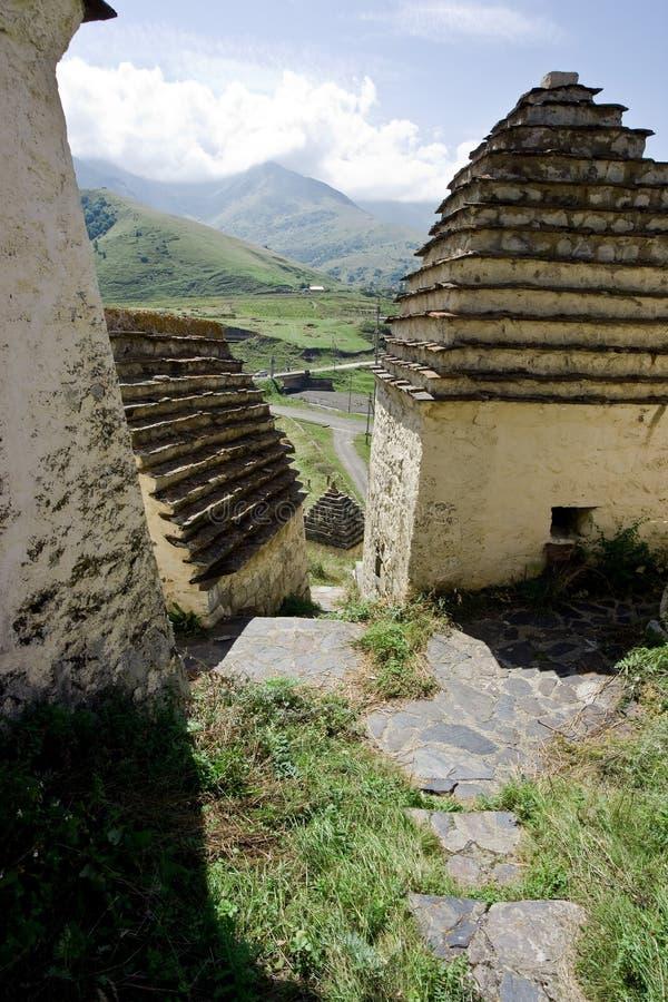 Architecture antique dans Ossetia, Caucase photos stock