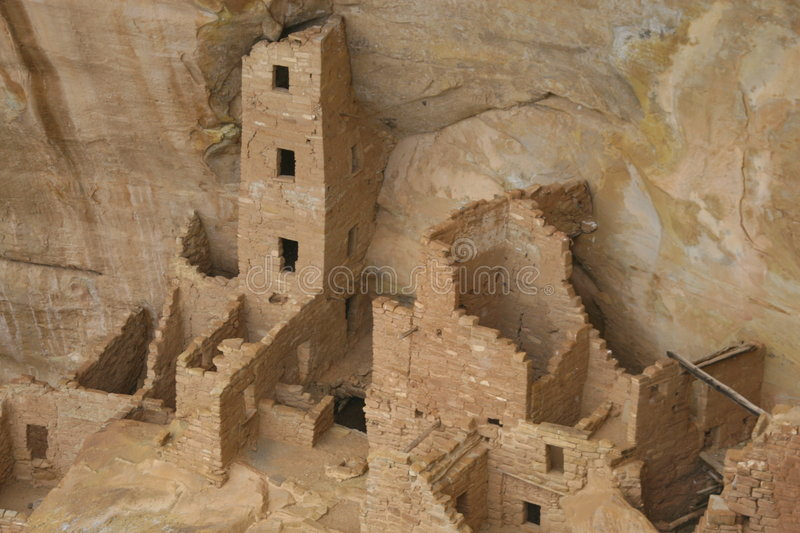 Architecture antique de MESA Verde images libres de droits