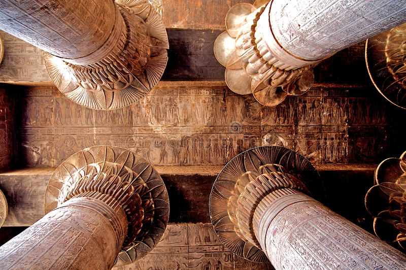 Architecture antique en Egypte photo libre de droits