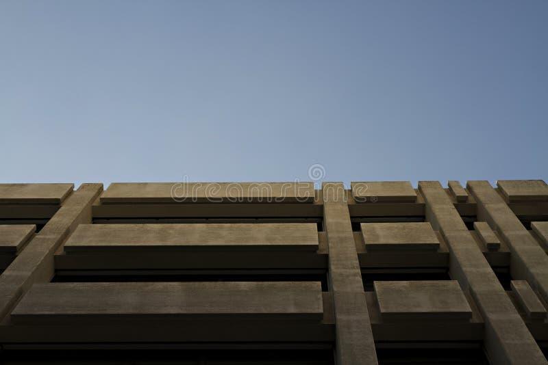 Architecture 1. Antwerpen Concrete Architecture: Parking Building royalty free stock images