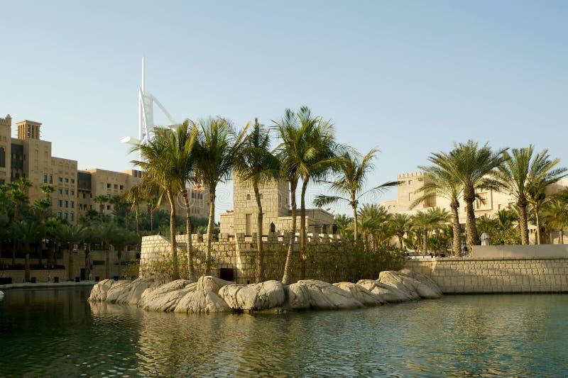 Architecture Arabe d'un hôtel luxueux à Dubaï, EAU photo stock