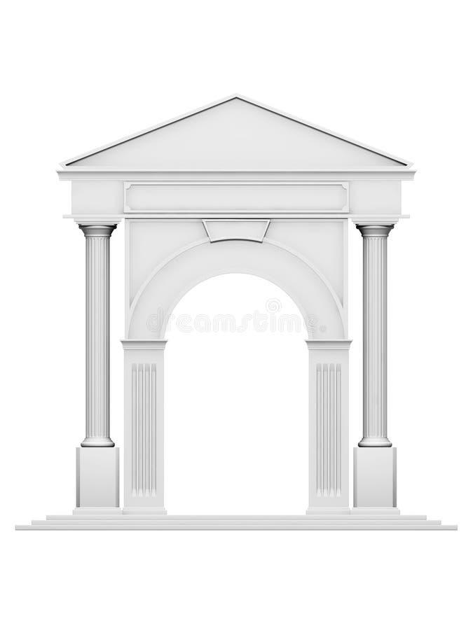 Architecture arc with column stock illustration