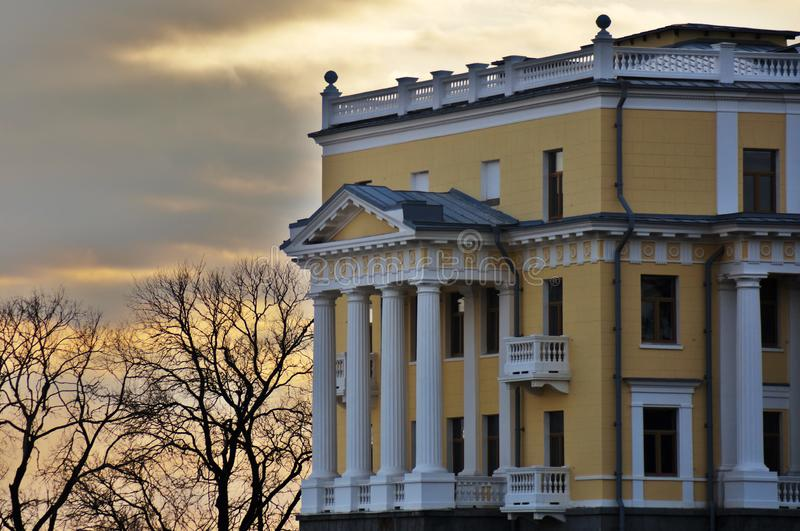 Architecture of Arkhangelskoye park in Moscow region, Russia. Color autumn photo taken in 2019 royalty free stock image