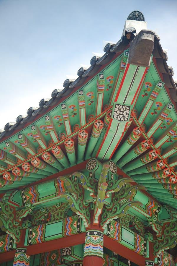 Architecture asiatique antique/Corée du Sud image libre de droits