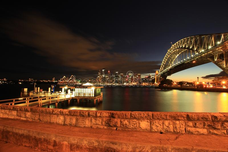 Architecture, Australia, Bridge stock image