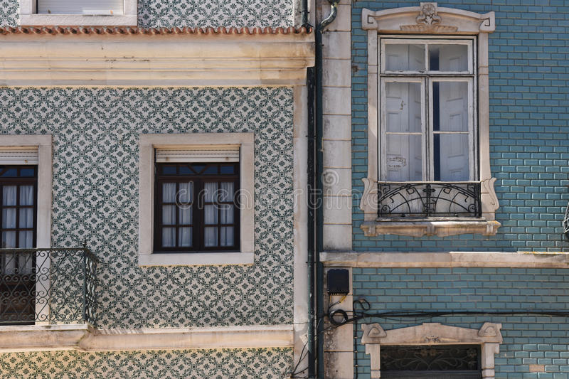Architecture in Aveiro, Beiras region,. Portugal royalty free stock photography