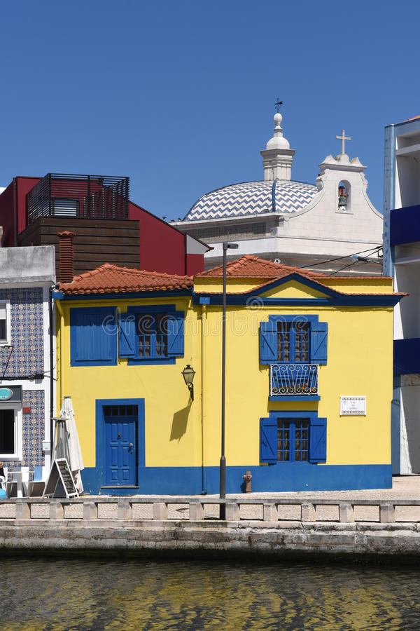Architecture in Aveiro, Beiras region,. Portugal stock photo