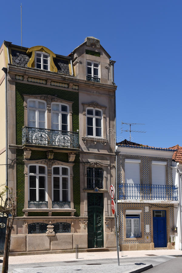 Architecture in Aveiro, Beiras region,. Portugal royalty free stock image