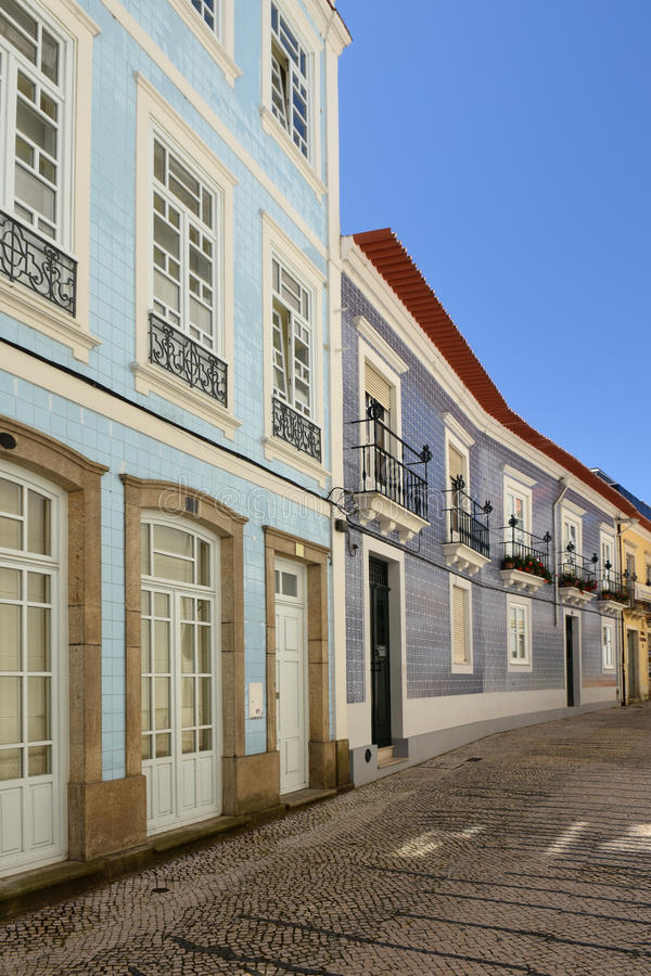Architecture in Aveiro, Beiras region,. Portugal stock photography