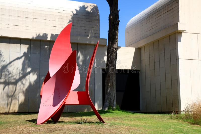 Architecture in Barcelona, Spain. Barcelona, Spain - July 8, 2018: Joan Miró Foundation Fundació Joan Miró is ais a museum of modern art honoring artist royalty free stock photo