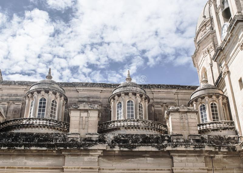Architecture baroque de St Nicholas Church à Malte photographie stock libre de droits