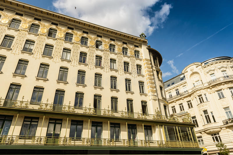 Architecture. Beautiful architecture in Art Noveau style in Vienna,Austria stock images