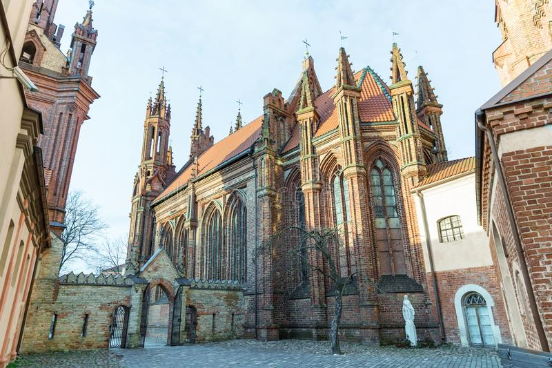 architecture of beautiful Church of St Anne, stock photo