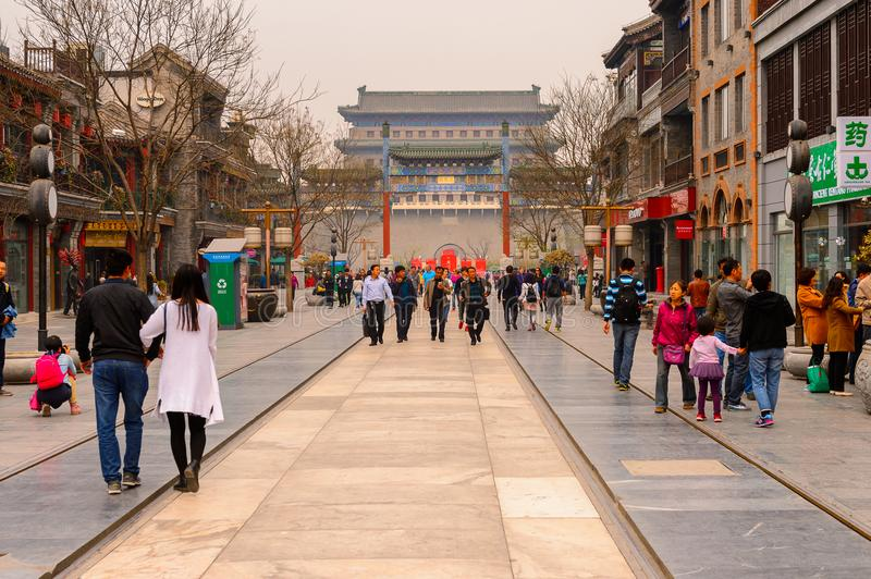 Architecture of Beijing, China stock photography